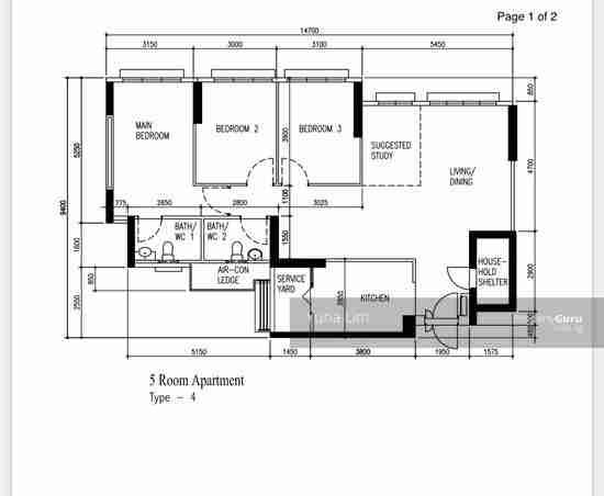 sengkang resale property - 288 compassvale - Floor Plan