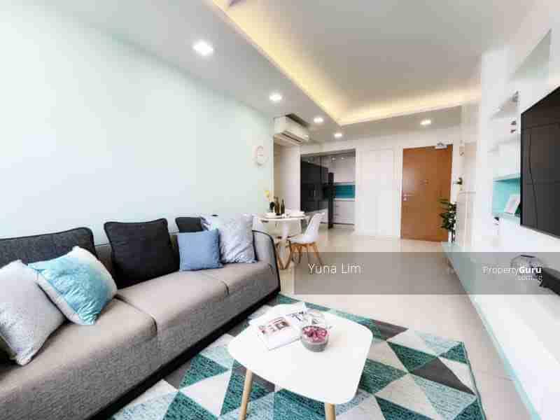 punggol resale property - 308c punggol - Living Room Kitchen View