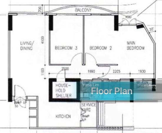 punggol resale property - 308c punggol - Floor Plan