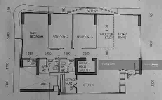 punggol resale property 310A-Punggol-Floor Plan