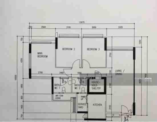 punggol resale property 603A-Punggol-Road - Floor Plan