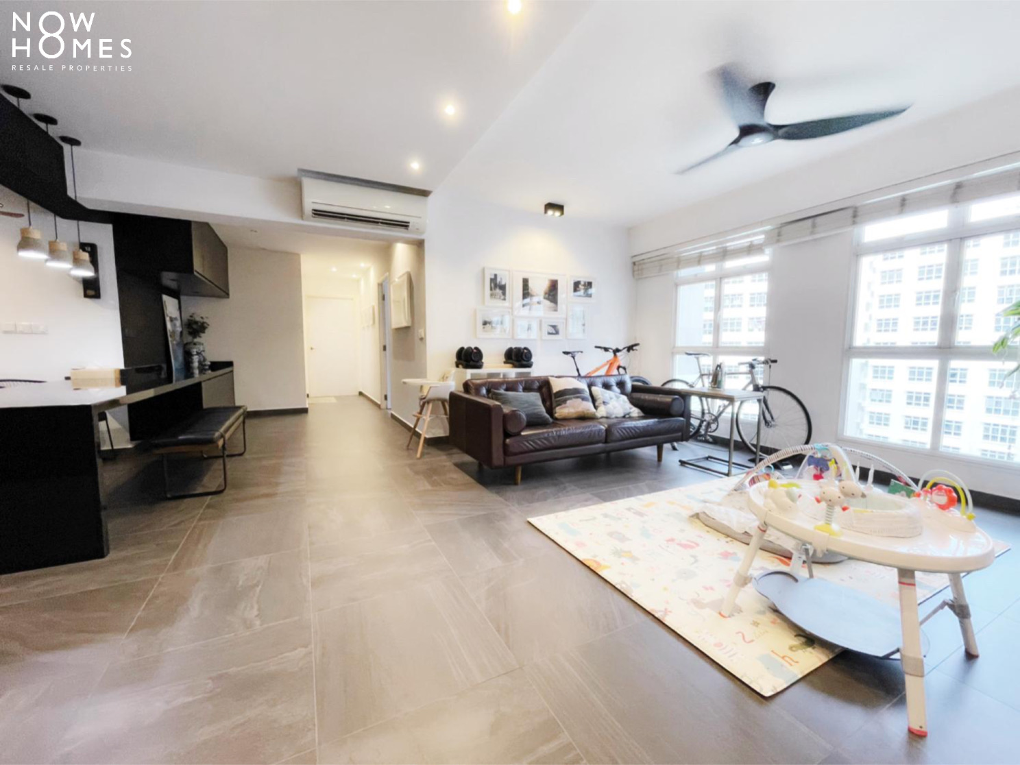 sengkang resale property - 288 compassvale - Living Room with Fan