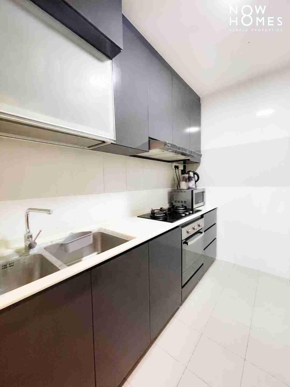 punggol resale property - 215a - Gray Kitchen full view