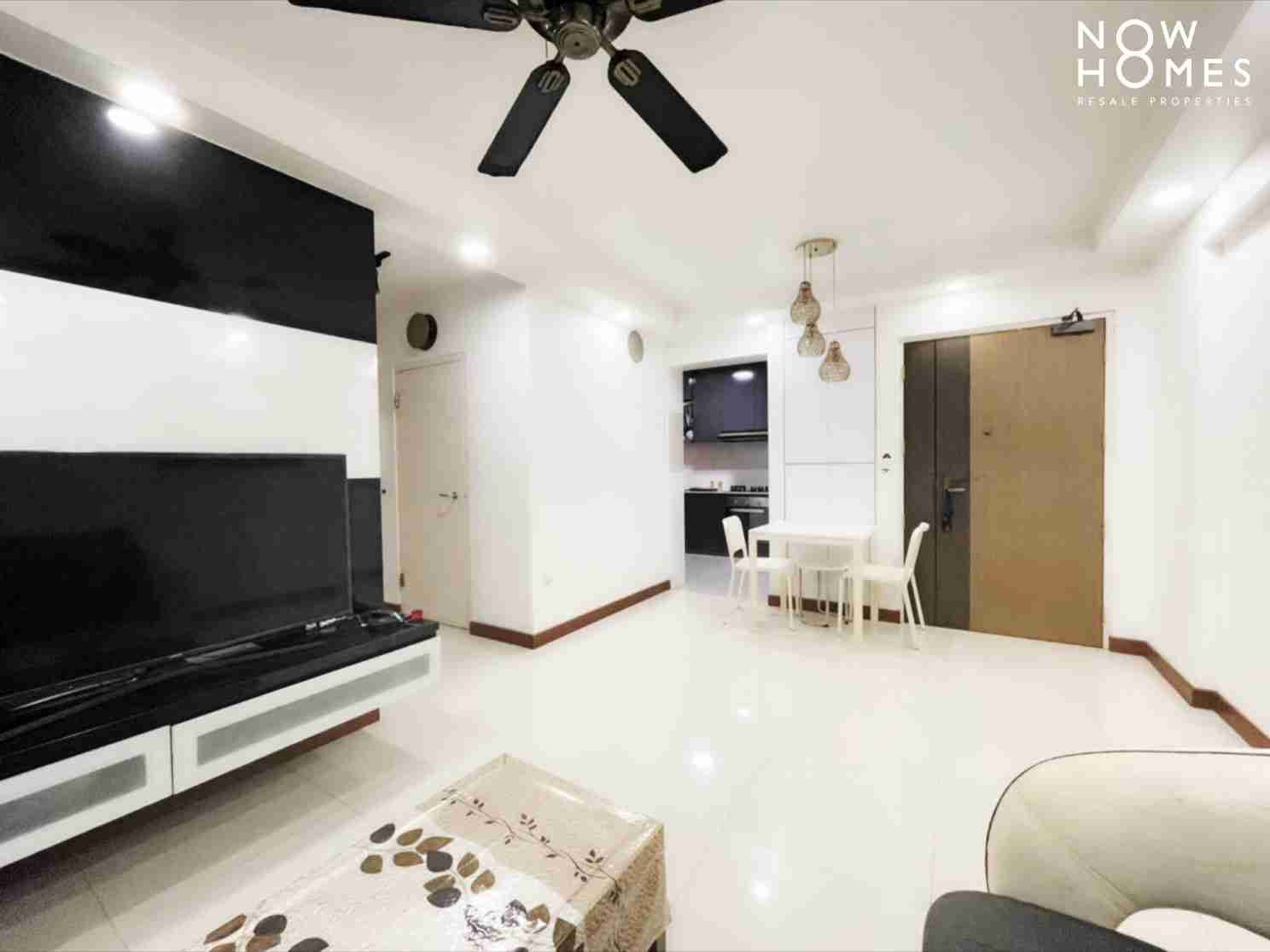 punggol resale property - 215a - White Living Room Kitchenview another pcs