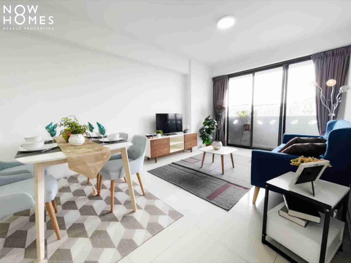 punggol resale property - 310B Punggol Walk - Living Room side view repeat