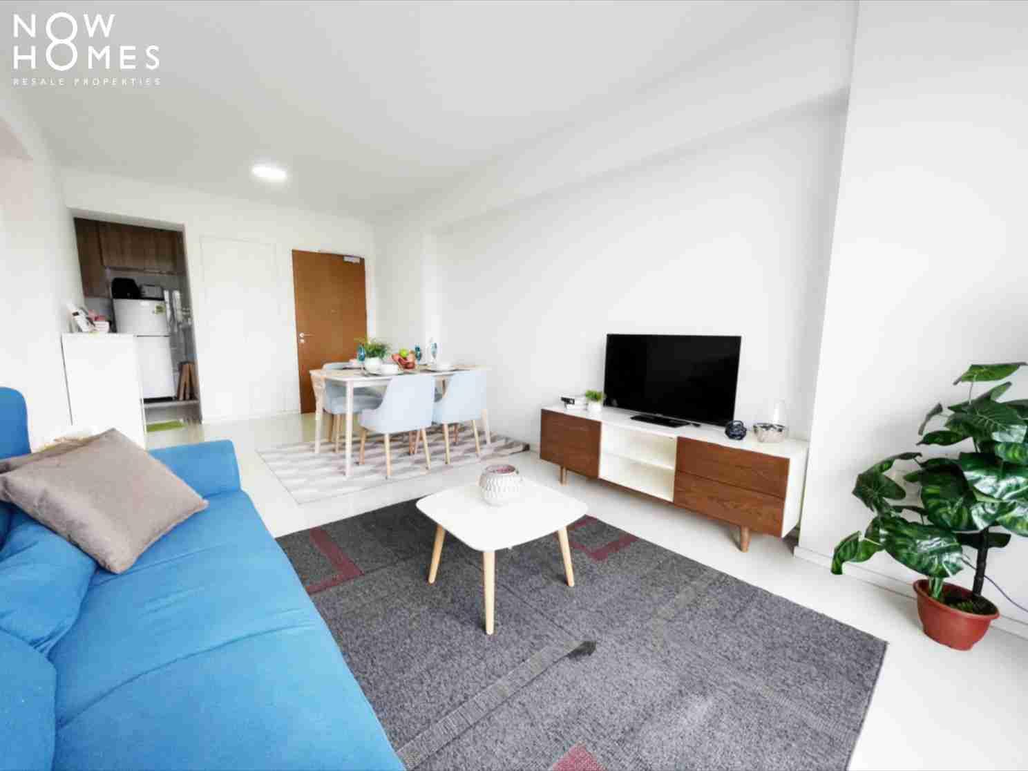 punggol resale property - 310B Punggol Walk - Living Room Kitchen View