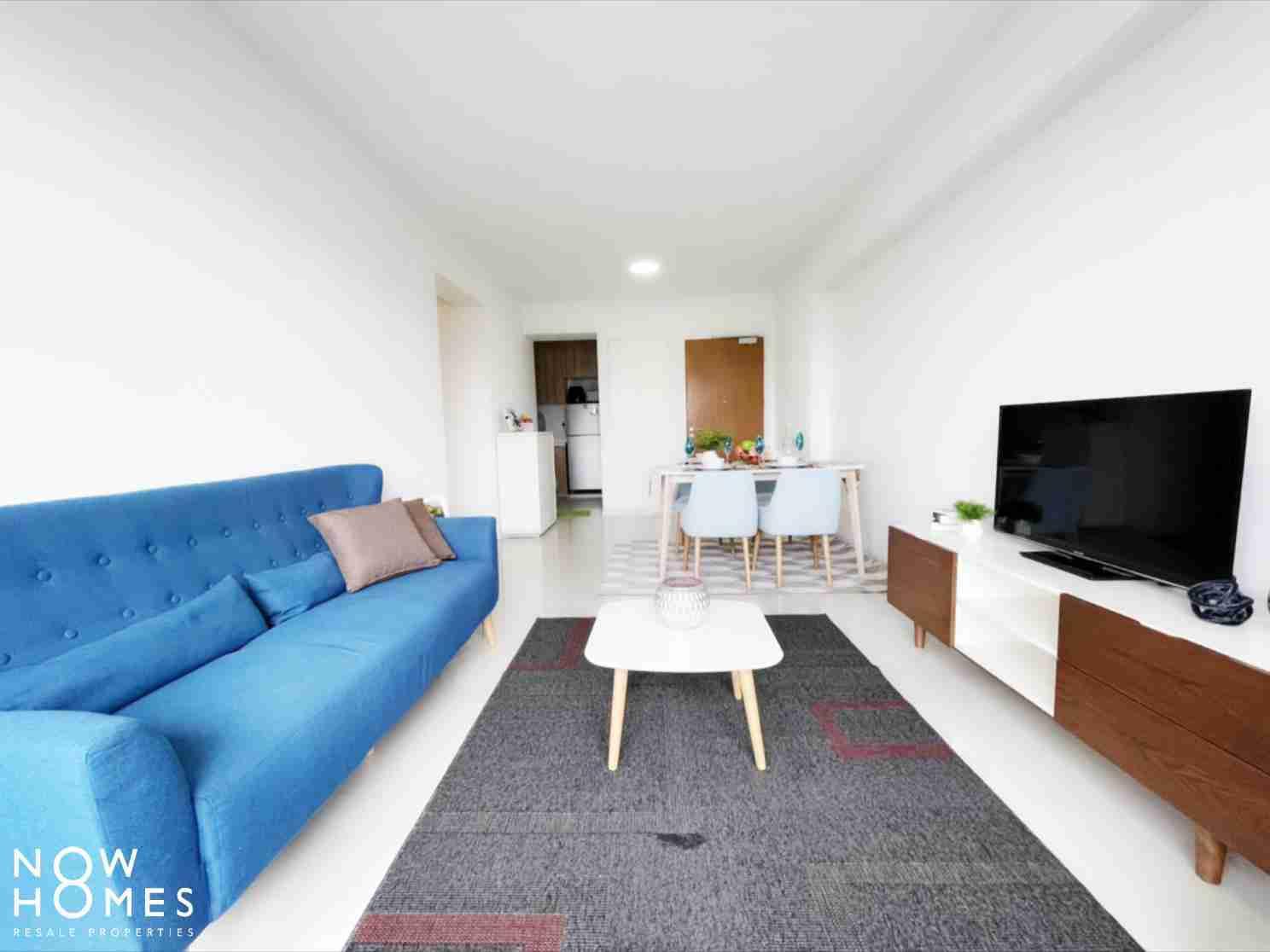 punggol resale property - 310B Punggol Walk - Living Room Fullview