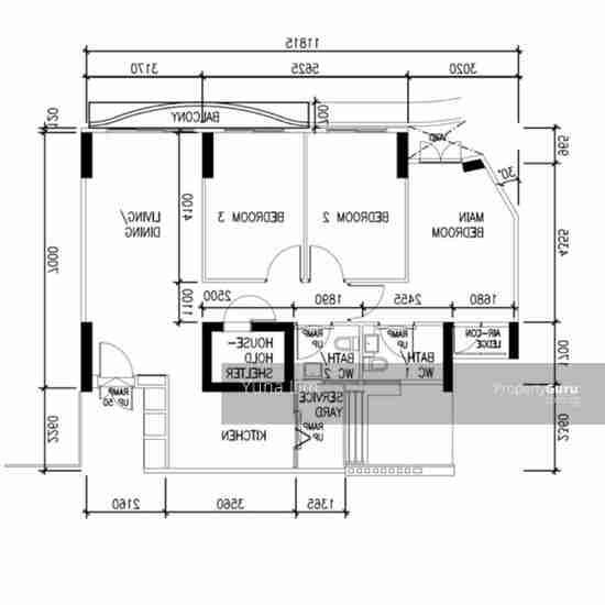 punggol resale property - 310B Punggol Walk - Floor Plan
