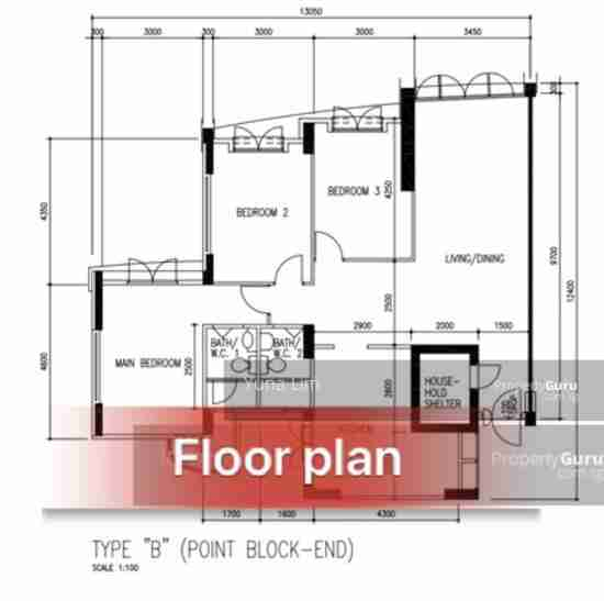 sengkang resale property - 318C Anchorvale Link Floor Plan