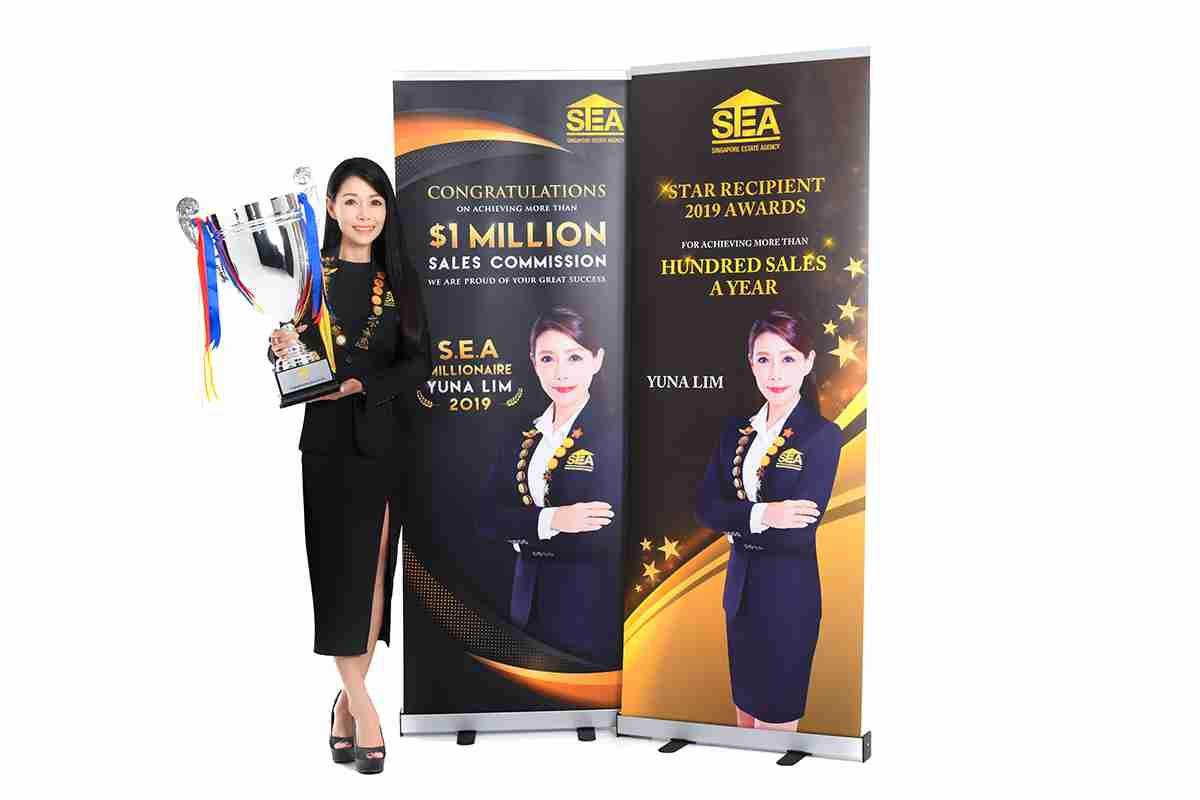 resale property agent S.E.A millionaire YUNA LIM 2019